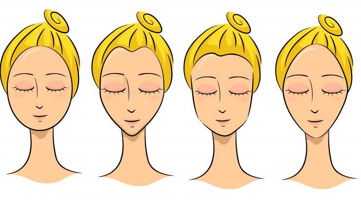Eine Gesichtsform und Brille viermal unterschiedlich