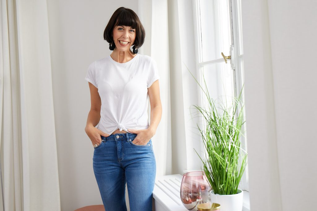Das weiße T-Shirt Eine wie Heine Versand Bianca Stäglich Stilberatung München