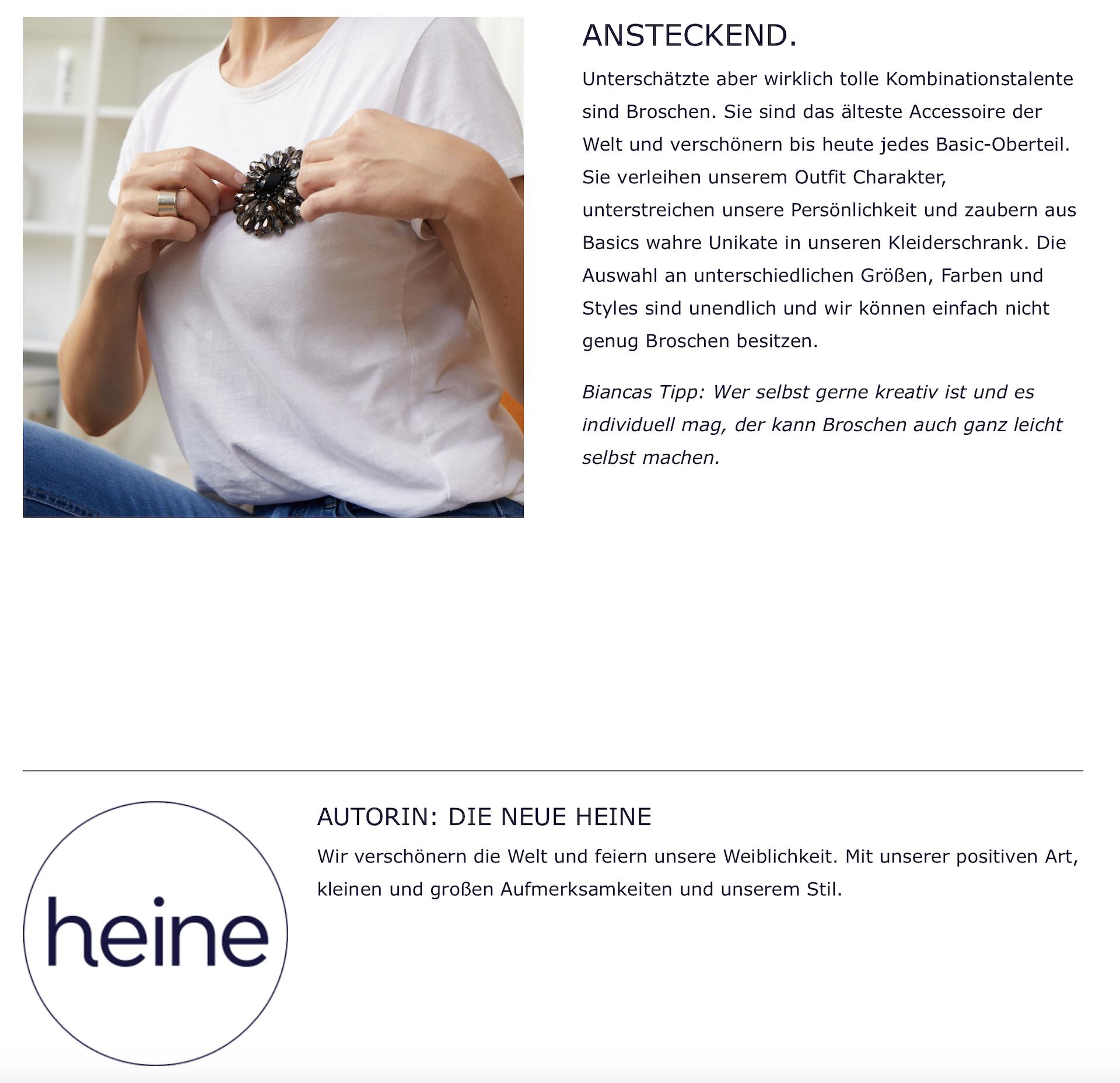 Styles und Stories mit Heine und dem weißen T-Shirt