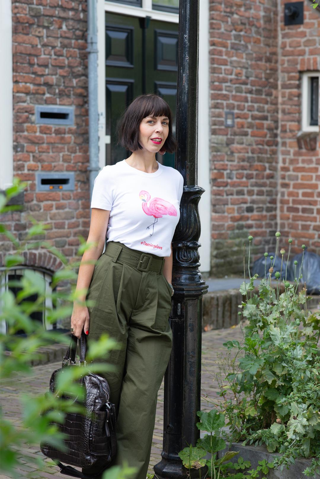 T-Shirt mit Flamingo drauf - mein eigenes designtes T-Shirt